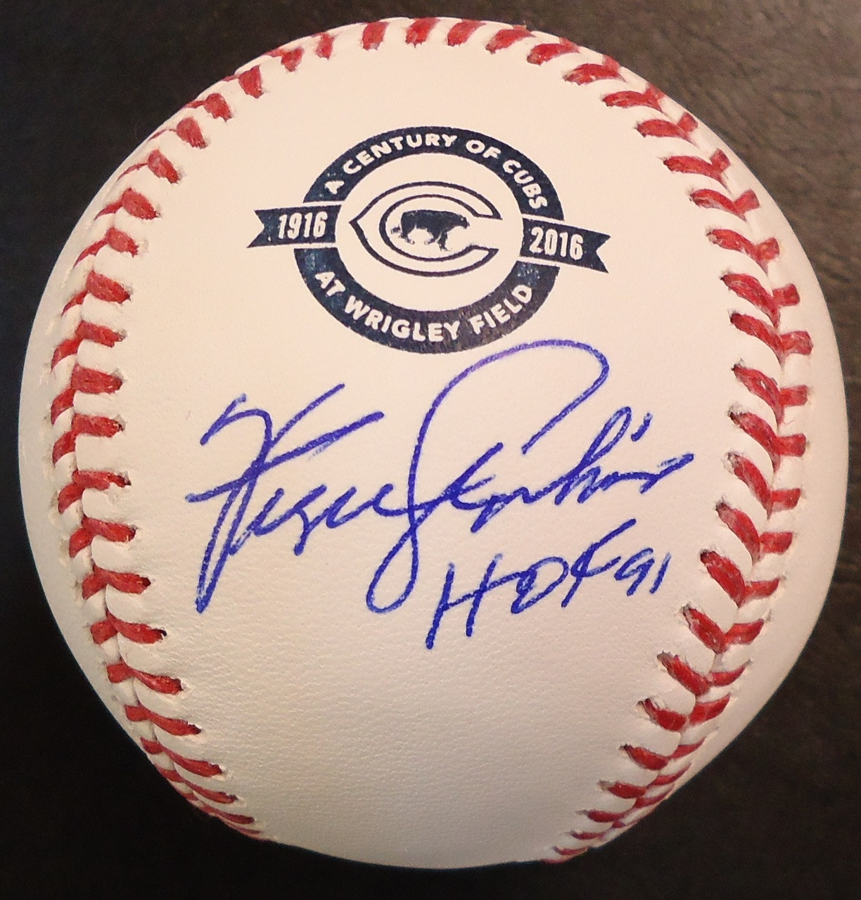 7de65d45387 ... Fergie Jenkins Autographed Baseball - Official Cubs 100 Years Ball  Inscribed