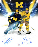 Dylan Larkin & Zach Werenski Autographed Michigan 16x20 Photo #1
