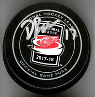 David Booth Autographed Little Caesars Arena Inaugural Season Official Game Puck