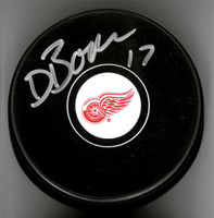 David Booth Autographed Detroit Red Wings Souvenir Puck