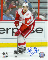 Danny DeKeyser Autographed Detroit Red Wings 8x10 Photo #7 - Handling The Puck