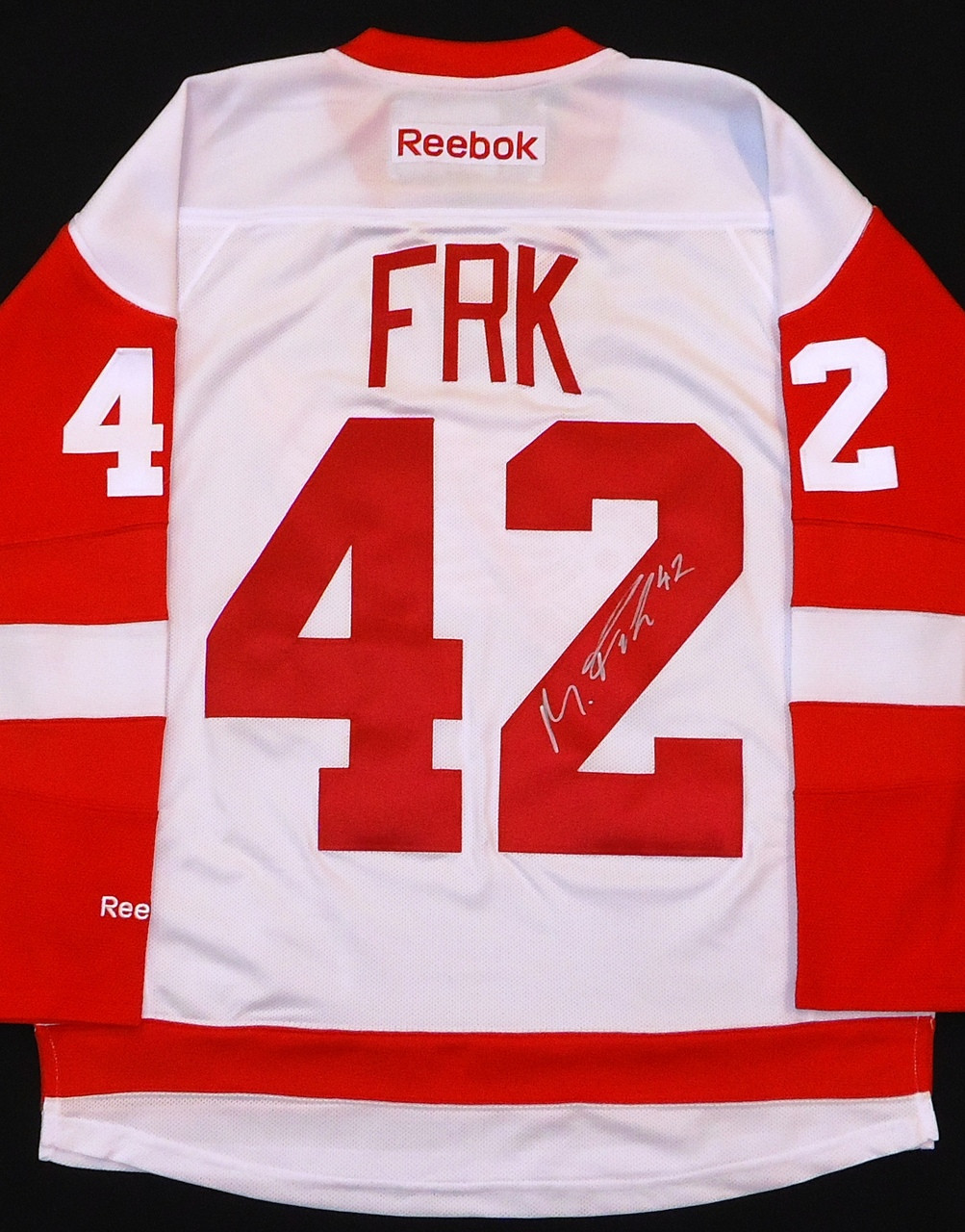 ... Martin Frk Autographed Detroit Red Wings Road Jersey. Image 1. Loading  zoom b1bcf7c84