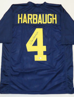 Jim Harbaugh Autographed University of Michigan Jersey