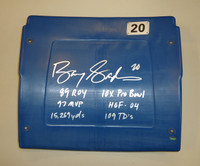Barry Sanders Autographed Pontiac Silverdome #20 Seatback Inscribed with Stats
