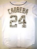 Miguel Cabrera Autographed 2013 Military Camo Jersey