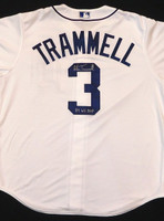 "Alan Trammell Autographed Detroit Tigers Jersey Inscribed ""84 WS MVP"""