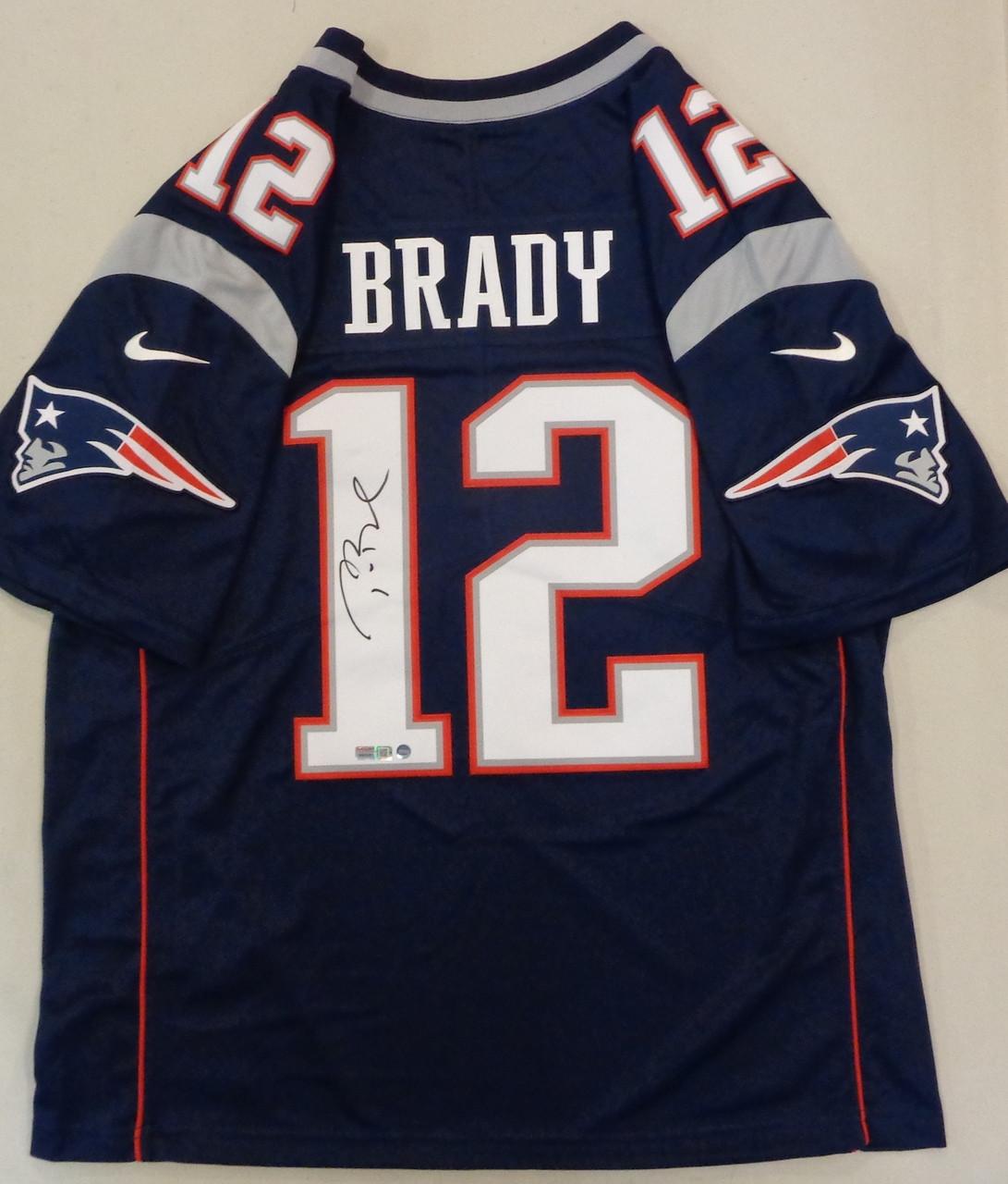 Tom Brady Autographed New England