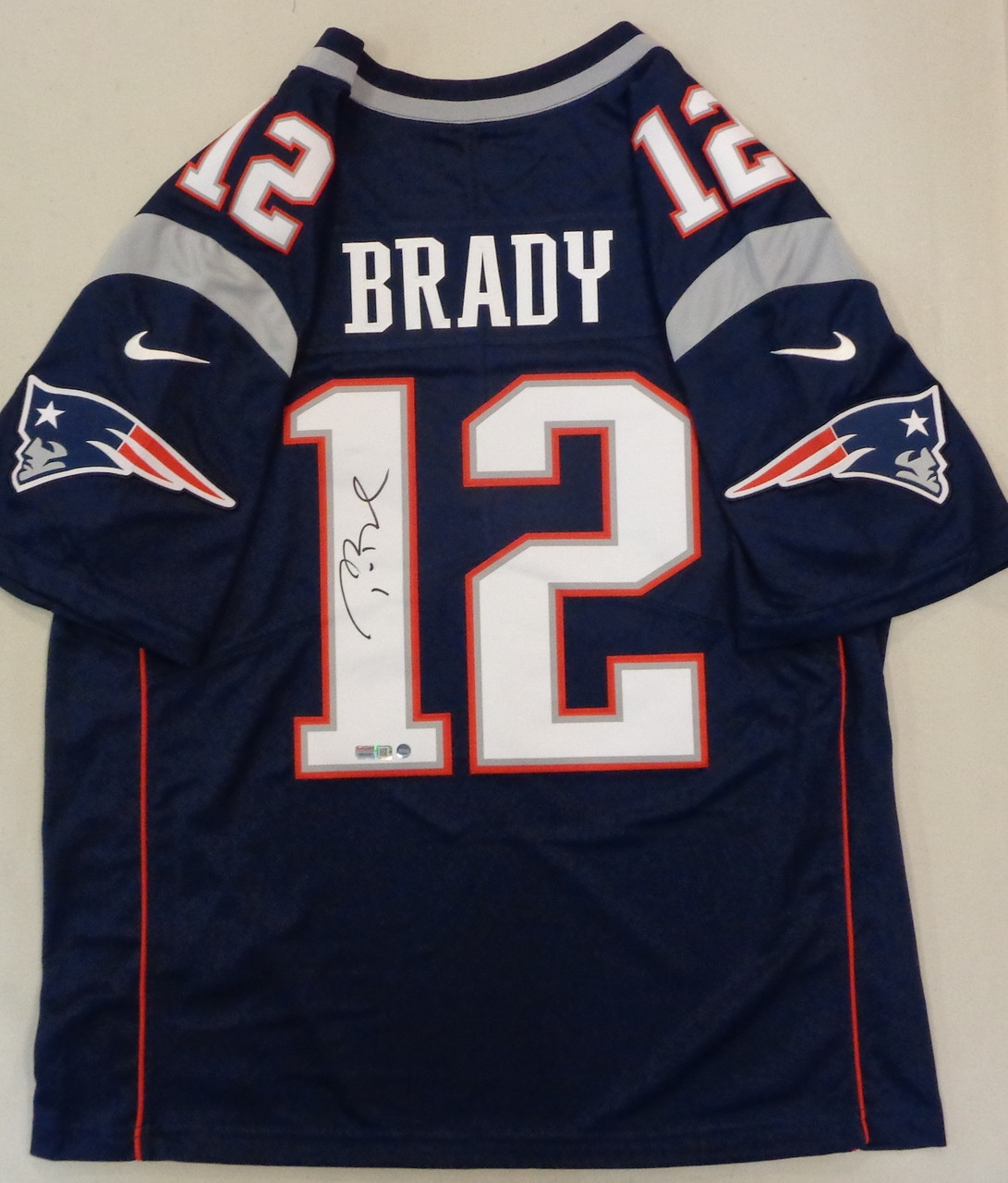 differently b831a e0850 Tom Brady Autographed New England Patriots Jersey - Blue Nike Limited