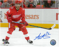 Andreas Athanasiou Autographed Detroit Red Wings 8x10 Photo #6 - Home Action Horiztonal