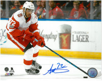 Andreas Athanasiou Autographed Detroit Red Wings 8x10 Photo #7 - Road Action Horizontal
