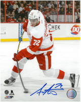 Andreas Athanasiou Autographed Detroit Red Wings 8x10 Photo #8 - Road Action Vertical
