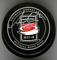 Andreas Athanasiou Autographed Little Caesars Official Game Puck