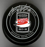 Anthony Mantha Autographed Little Caesars Arena Official Game Puck
