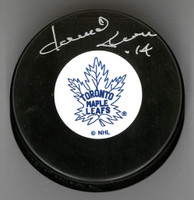 Dave Keon Autographed Vintage Toronto Maple Leafs Puck