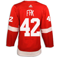 Detroit Red Wings Adidas Authentic Red Jersey - Frk #42