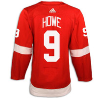 Detroit Red Wings Adidas Authentic Red Jersey - Howe #9