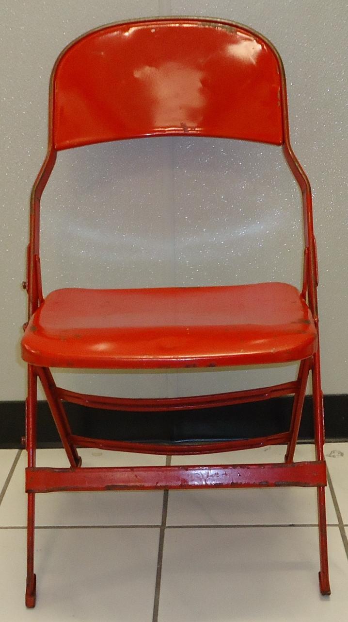 Joe Louis Arena Original Metal Folding Chair Detroit