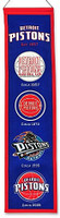 Detroit Pistons Wool Heritage Banner