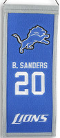 Barry Sanders Detroit Lions Mini Wool Banner