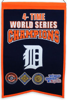 Detroit Tigers World Series Champions Wool Banner