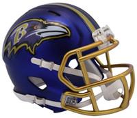 Baltimore Ravens Blaze Alternate Speed Riddell Mini Helmet