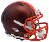 Cleveland Browns Blaze Alternate Speed Riddell Mini Helmet