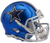 Dallas Cowboys Blaze Alternate Speed Riddell Mini Helmet