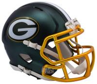 Green Bay Packers Blaze Alternate Speed Riddell Mini Helmet