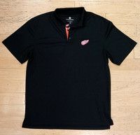 Detroit Red Wings Men's Levelwear Omaha Polo - Black