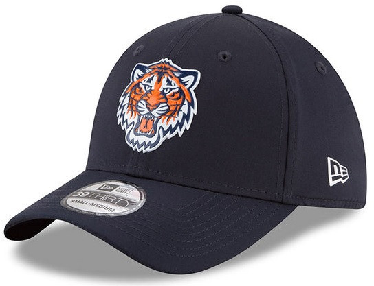 4726851bcc67a3 ... Detroit Tigers New Era 2018 On-Field Prolight Batting Practice 39THIRTY  Flex Hat - Navy. Loading zoom