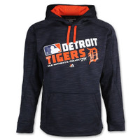 Detroit Tigers Men's Majestic On-Field Team Choice Streak Therma Base Fleece Hoodie - Road