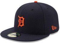 Detroit Tigers Men's New Era Navy Road Authentic Collection On-Field 59FIFTY Fitted Hat