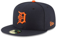the latest 9a11b 966b7 Detroit Tigers Men s 2018 New Era Navy Road Authentic Collection On-Field  59FIFTY Fitted Hat