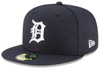 Detroit Tigers Men's 2018 New Era Navy Home Authentic Collection On-Field 59FIFTY Fitted Hat
