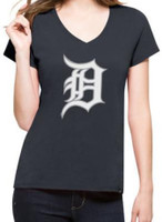 Detroit Tigers Women's 47 Brand Clutch Splitter V-neck T-Shirt