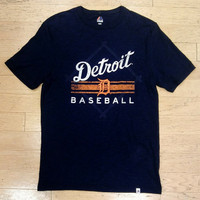 Detroit Tigers Men's Majestic In The Beginning Navy T-Shirt