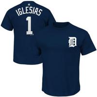 Detroit Tigers Men's Majestic Jose Iglesias Name & Number Player T-shirt