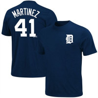 Detroit Tigers Men's Majestic Victor Martinez Name & Number Player T-shirt