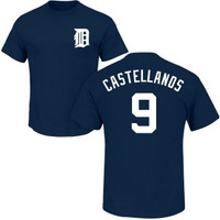 Detroit Tigers Men's Majestic Nick Castellanos Name & Number Player T-shirt