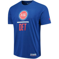Detroit Pistons Men's Under Armour Blue Combine  T-Shirt