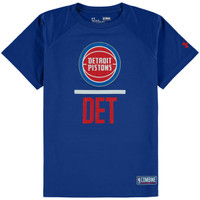 Detroit Pistons Youth Under Armour Blue Combine T-Shirt