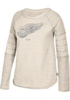 Detroit Red Wings Women's CCM Grey Raglan Crew Sweatshirt