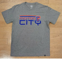 Detroit Pistons Men's 47 Brand Slate Grey Motor City  T-Shirt