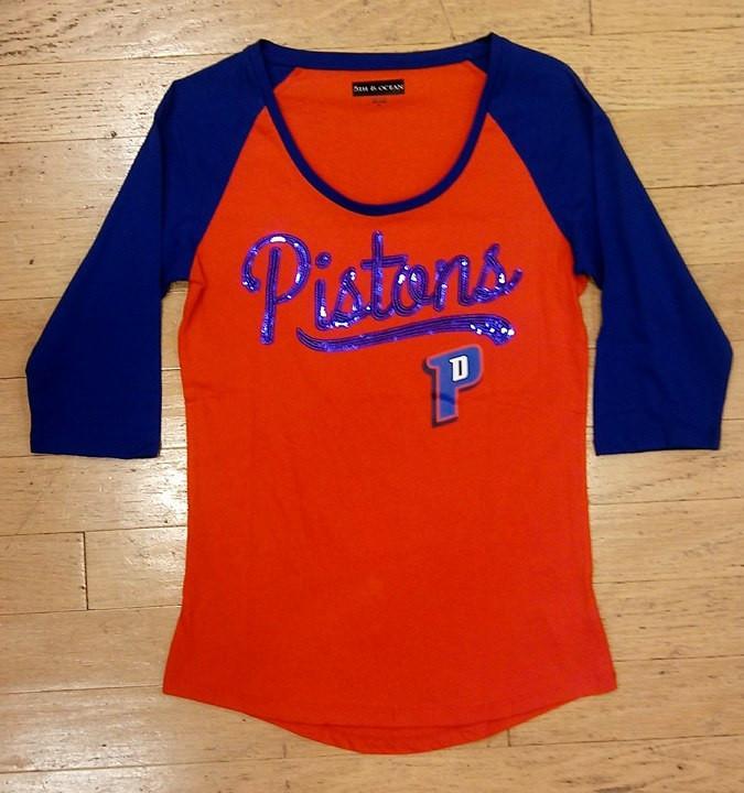 Home · Detroit Pistons Apparel  Detroit Pistons Women s 5th   Ocean Sequins  Raglan. Image 1 5d06bc5ba