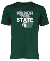 Michigan State University Men's Blue 84 We Run This State T-shirt