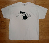 Michigan State University Men's J2 White T-shirt