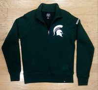 Michigan State University Men's 47 Brand Green Quarter Zip