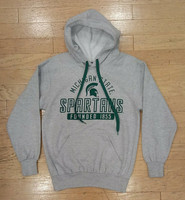 Michigan State University Men's MVP Sport Grey Hoodie