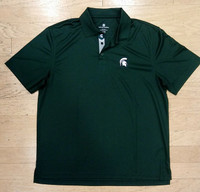 Michigan State University Men's Levelwear Green Omaha Polo