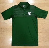Michigan State University Men's Champion Green Polo